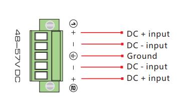 Sơ đồ đấu nối tính năng Hot backup power